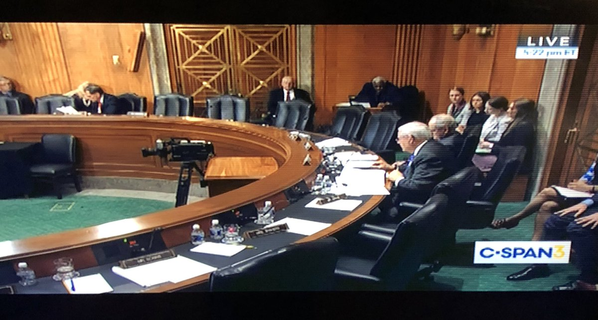 At 5:22 PM, the Senate's hearing into the most important US national security crisis of the moment is virtually empty. This is the Senate Foreign Relations Committee, who called up the president's own envoy to Syria, and they can't stick around to hear what he has to say.