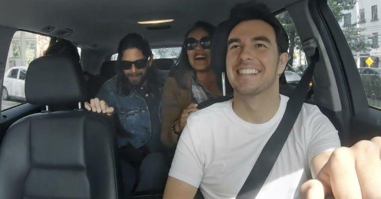 """Sergio """"Checo"""" Pérez sorprende haciéndose conductor de #uber #Mexico por un día"""