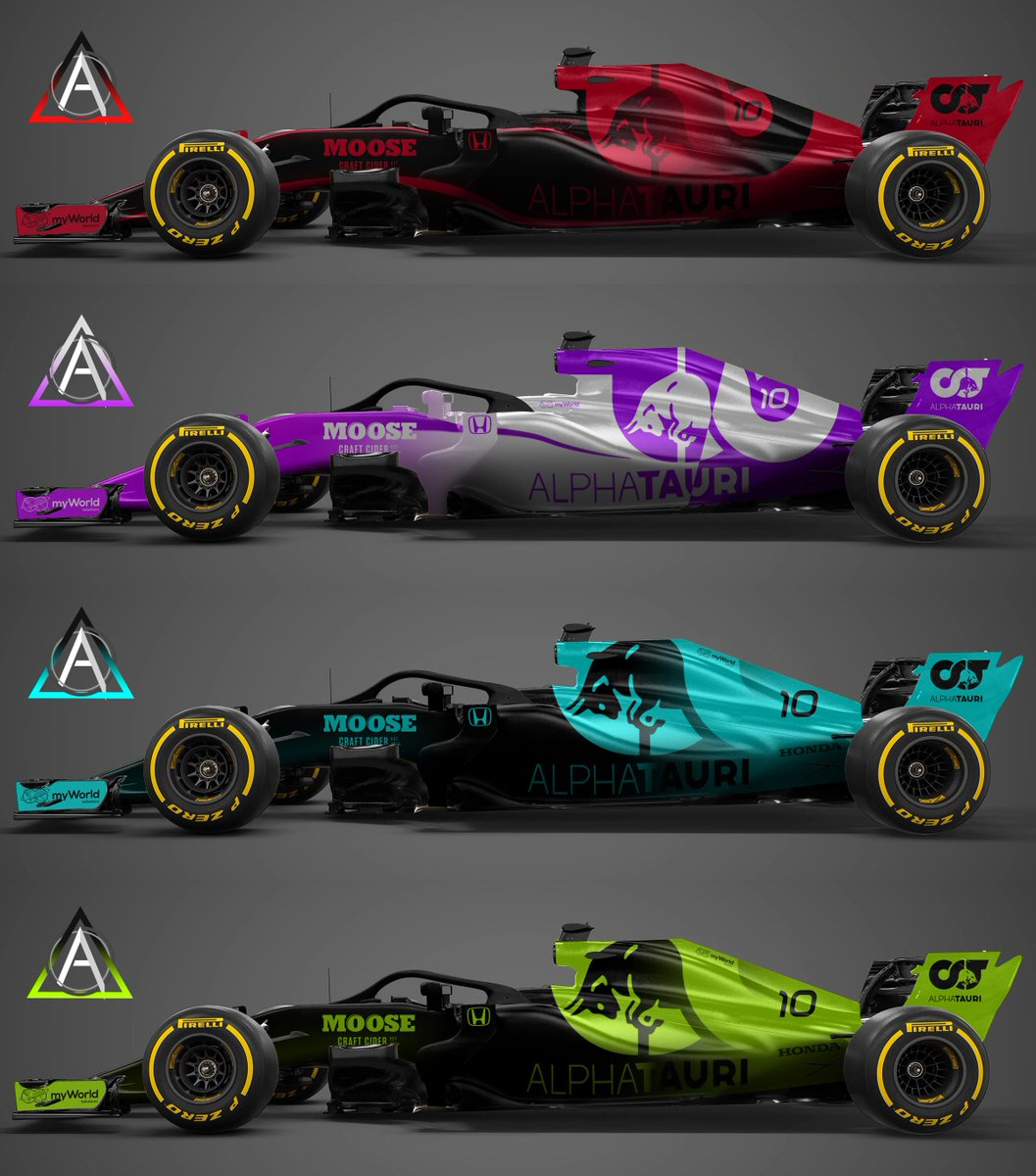 Adam Oates Design On Twitter Here S 4 Liveries For The Renamed Alpha Tauri For 2020 Vote For Your Favourite In The Replies And I Ll Release A 3d Assetto Corsa Livery For The