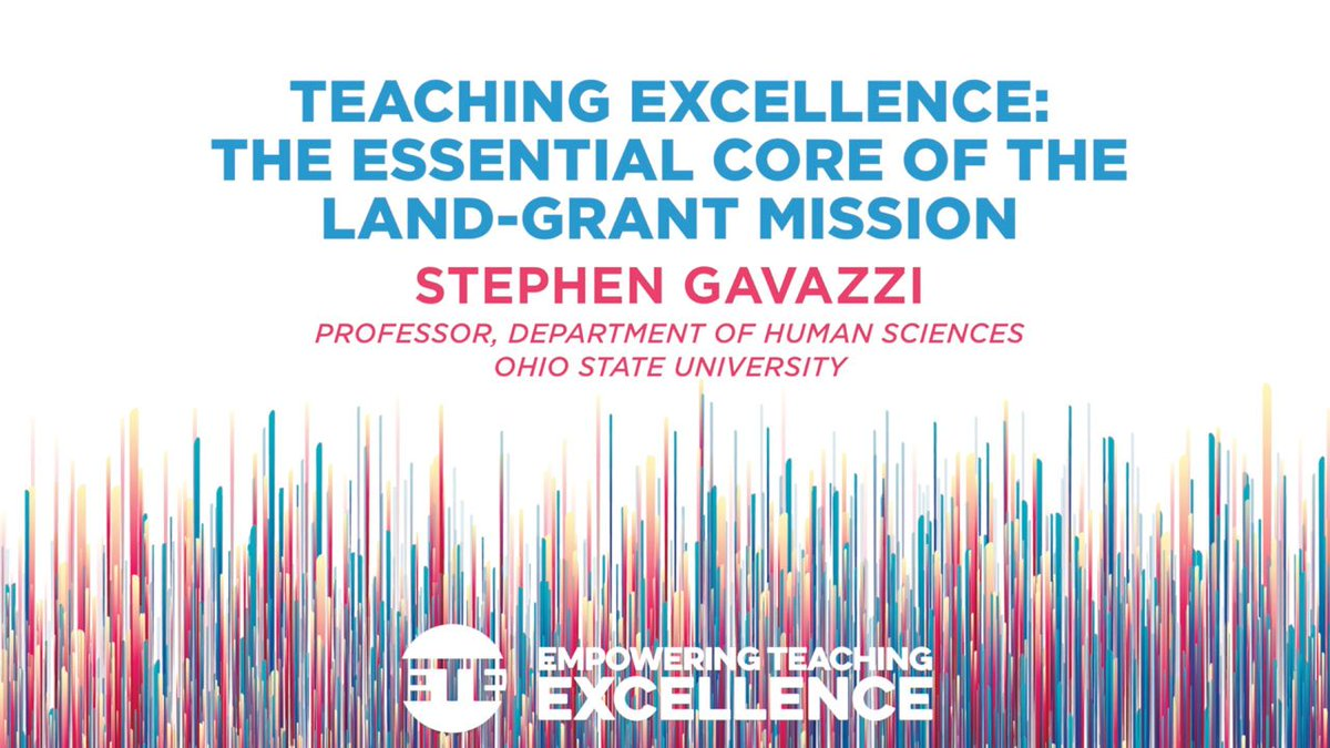 Rewatch the inspiring keynote address by Dr. Stephen Gavazzi (@StephenMGavazzi) from the #ETE2019 Conference #landgrant #teachingexcellence #USUETE   https:// youtu.be/R-hpGA9ySqU?t= 180  … <br>http://pic.twitter.com/g6Pghhoa9h