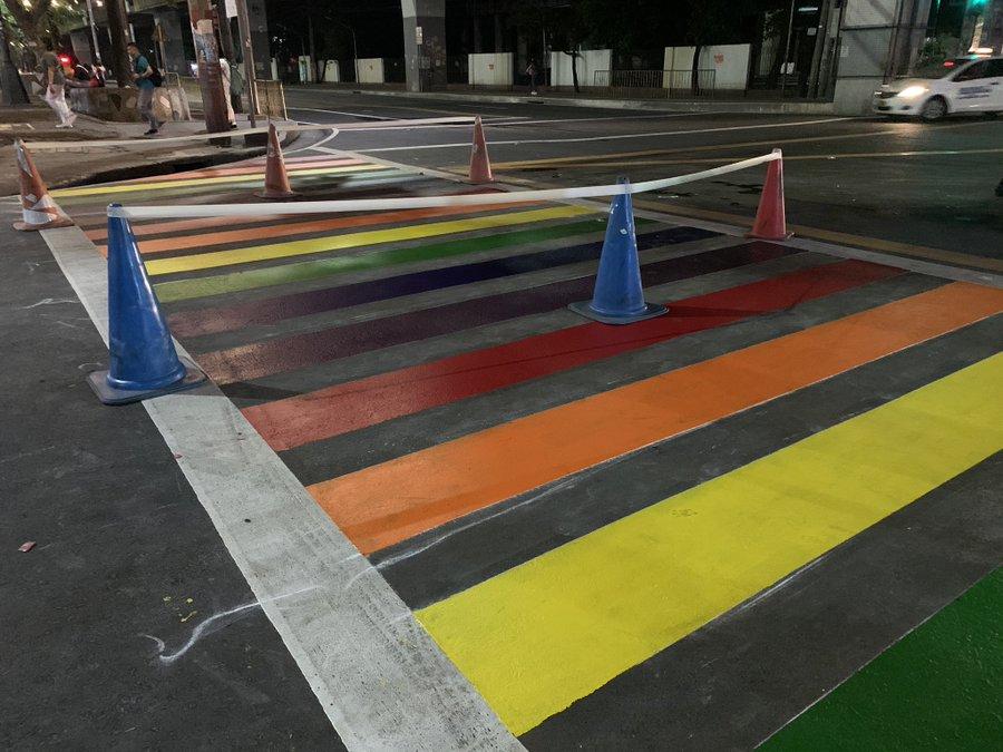 Rainbow Pedestrian Lane