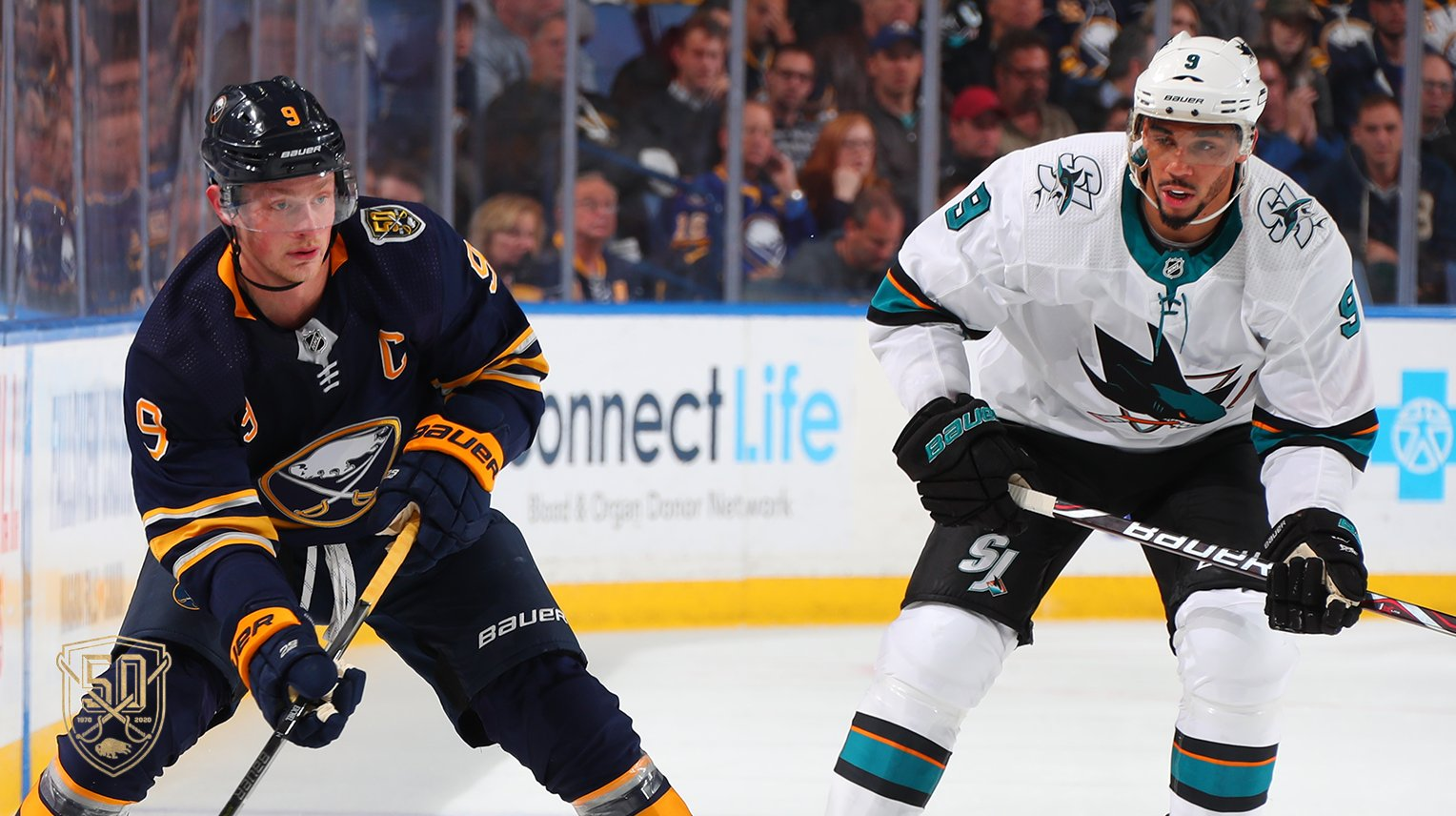 Sabres top Sharks in overtime