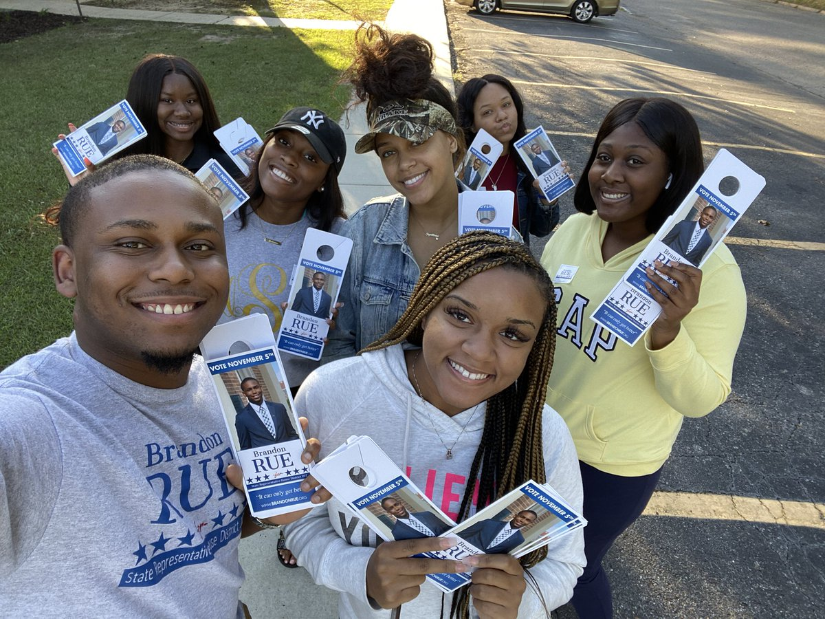 With only 14 days until Election Day everyday is so important. I'm so thankful for the group I had canvassing with me tonight. If we haven't knocked on your door yet we will be sure to make it before Election Day. #Ruefor102