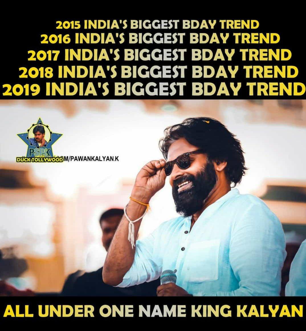 Top 5 Birthday Trends in India   1. #HappyBirthdayPawanKalyan : 10.5M+ (2019)   2. #HappyBirthdaySSMB : 8.3M ('19)   3. #HBDJanaSenaniPawanKalyan 7.4M ('18)   4. #HBDSuperstarMAHESH : 4.5M ('18)   5. #HappyBirthdayPrabhas : 4.2M ('18)   #Prabhas bday '19 tag same as 18. Count??<br>http://pic.twitter.com/GCyAli1o0U