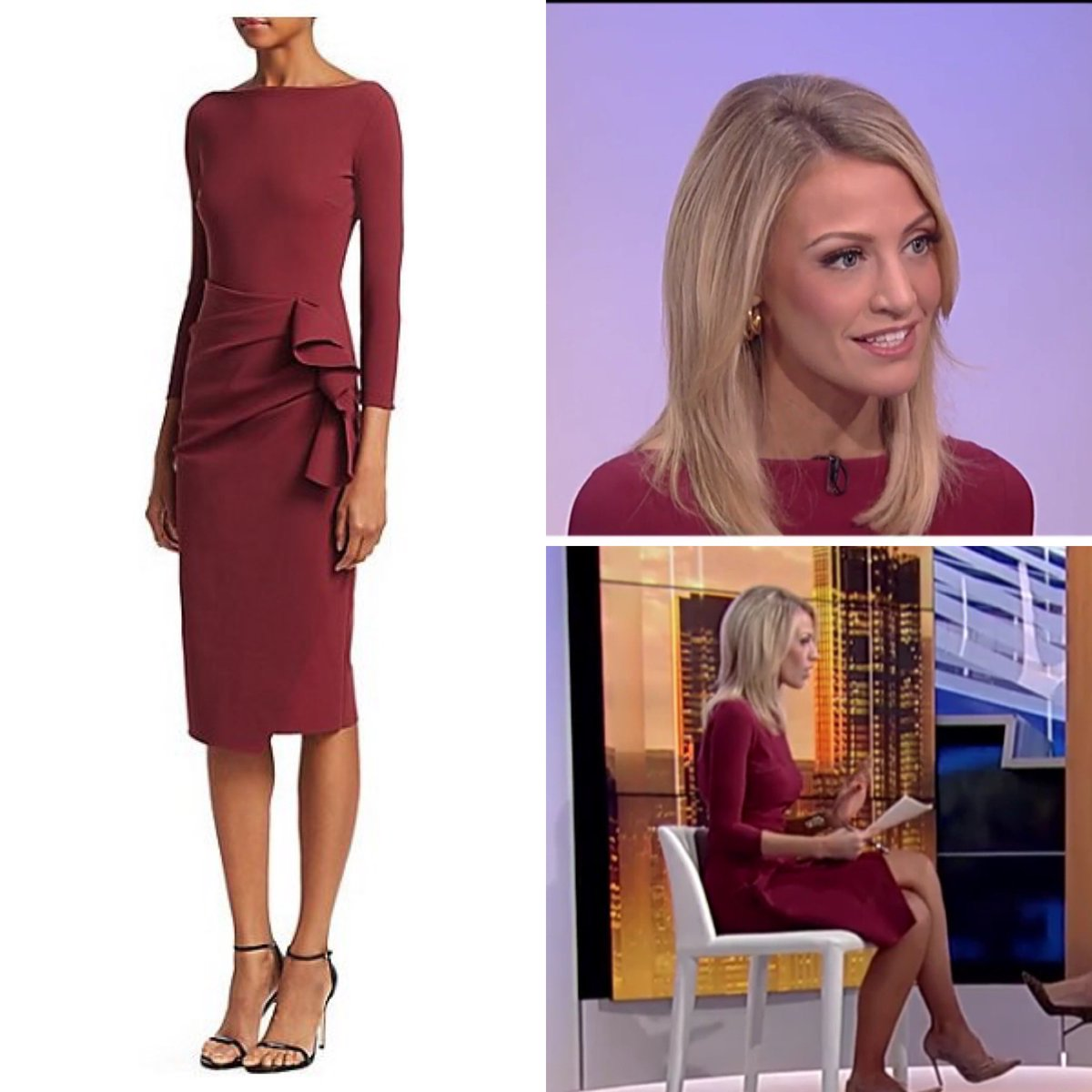 Carley Shimkus (@CarleyShimkus) wore a Chiara Boni 'Zelma' Side Ruffle Sheath dress this morning on #FoxandFriends - the dress is available at Saks.  #carleyshimkus #foxnews #foxnewsfashion  https://www.instagram.com/p/B38Ah68A1vc/?igshid=1kgnho3698zri …pic.twitter.com/qH5HqEHbgx