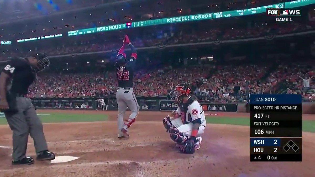Washington Nationals' Juan Soto, 20, makes World Series history with homer, three RBI