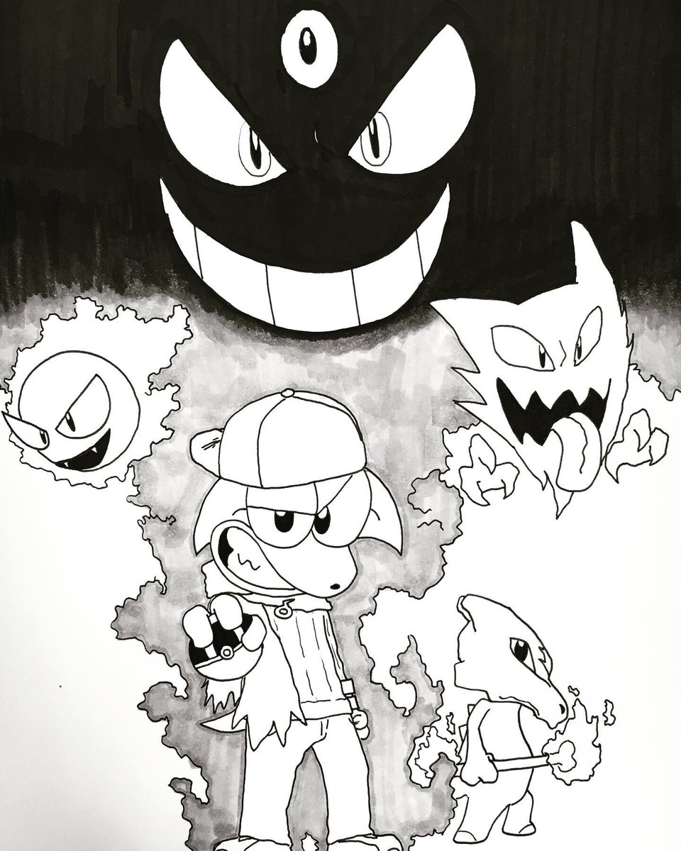"""Funny Pokemon Black And White Comics defenders of dreams on twitter: """"inktober day 22: ghost"""