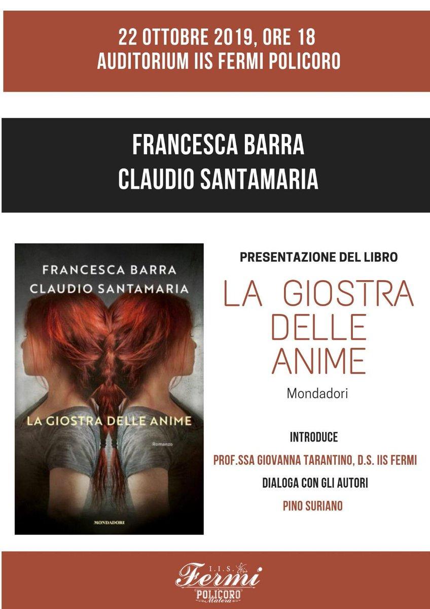 Vi aspettiamo stasera con @francescabarra @ClaudSa...