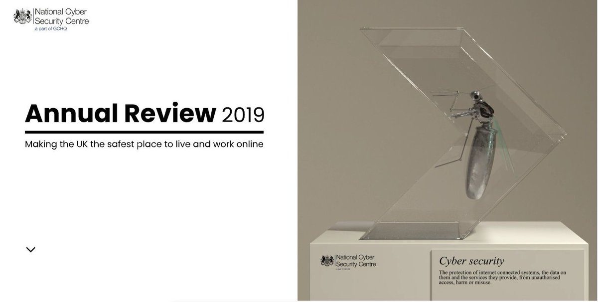 The National Cyber Security Centre has published their 2019 annual review today. It highlights developments and highlights over the last 12 months. Read more here ncsc.gov.uk/news/annual-re… #CyberCrime #CyberSecurity