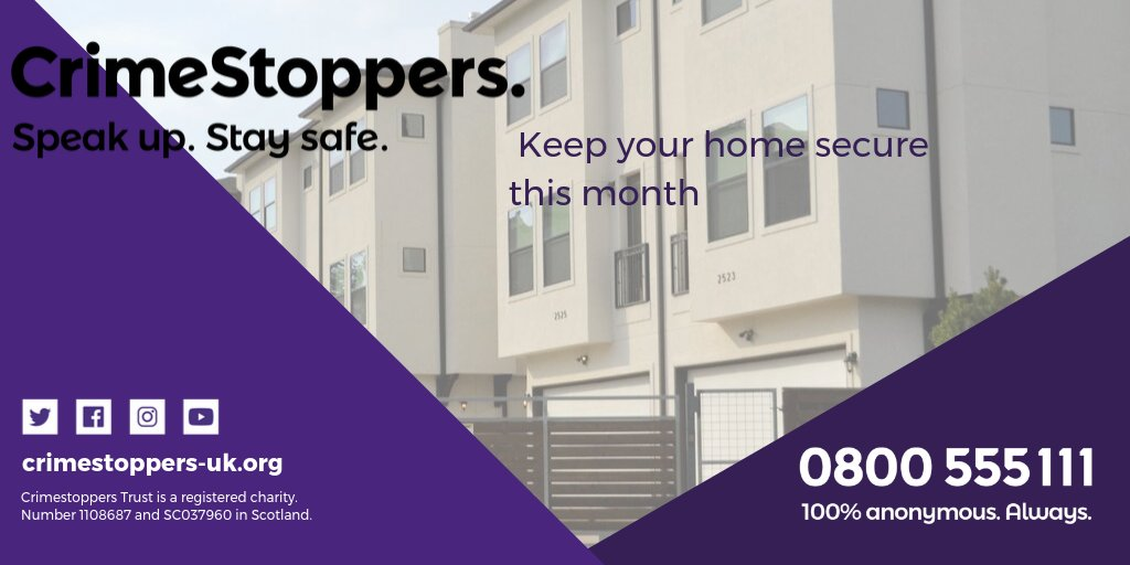 If you would like to know how you can keep your home safe from burglary, you can give the burglary page on our website a read: bit.ly/2ODRyEz #NHSM #NationalHomeSecurityMonth