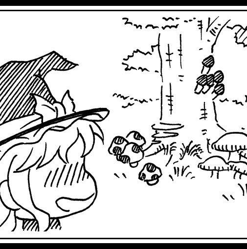東方点取り占いが更新です!妖々編の吉二弾は霧雨魔理沙さん!きのこの森で幸せそうですね♪全体はpixivから!#pixiv #描いてみた #東方 #東方Project #東方点取り占い #霧雨魔理沙 #魔理沙