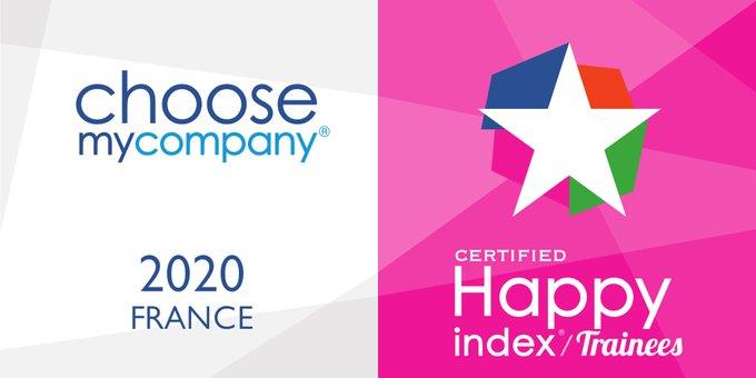 Fiers de notre certification #HappyTrainees 2020 par @choosemycompany qui récompense les...