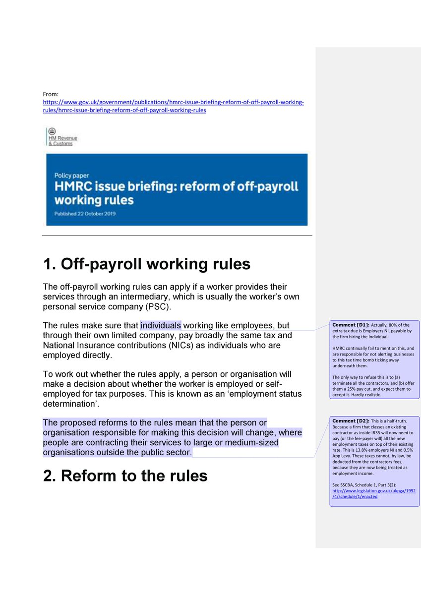 HMRC have recently published ...