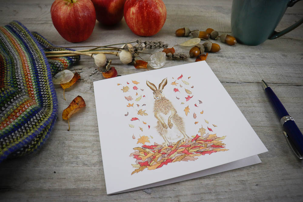 Falling leaves. The leaves are slowly changing colour, with those beautiful red and orange tones, this hare is embracing the seasonal colour changes!  #hare #wildlifeartist #fallingleaves #autumn #greetingcards #watercolourillustration #watercolourleaves #paintingofthedaypic.twitter.com/wNjBHKz7di