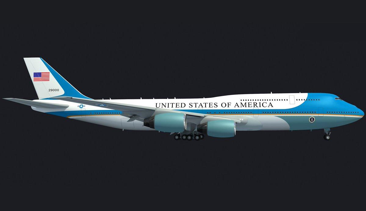 Air Force One Landing Scene #3d #3dmodels #3dmodel #3ds #3dsmax #3dmodeling #presidential #aircraft #transport #passenger #airplane #aviation #airliner #air #force #one #plane #USAF #president #Donald #Trump #United #States