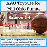 Image for the Tweet beginning: Grade 3-6 additional tryout date