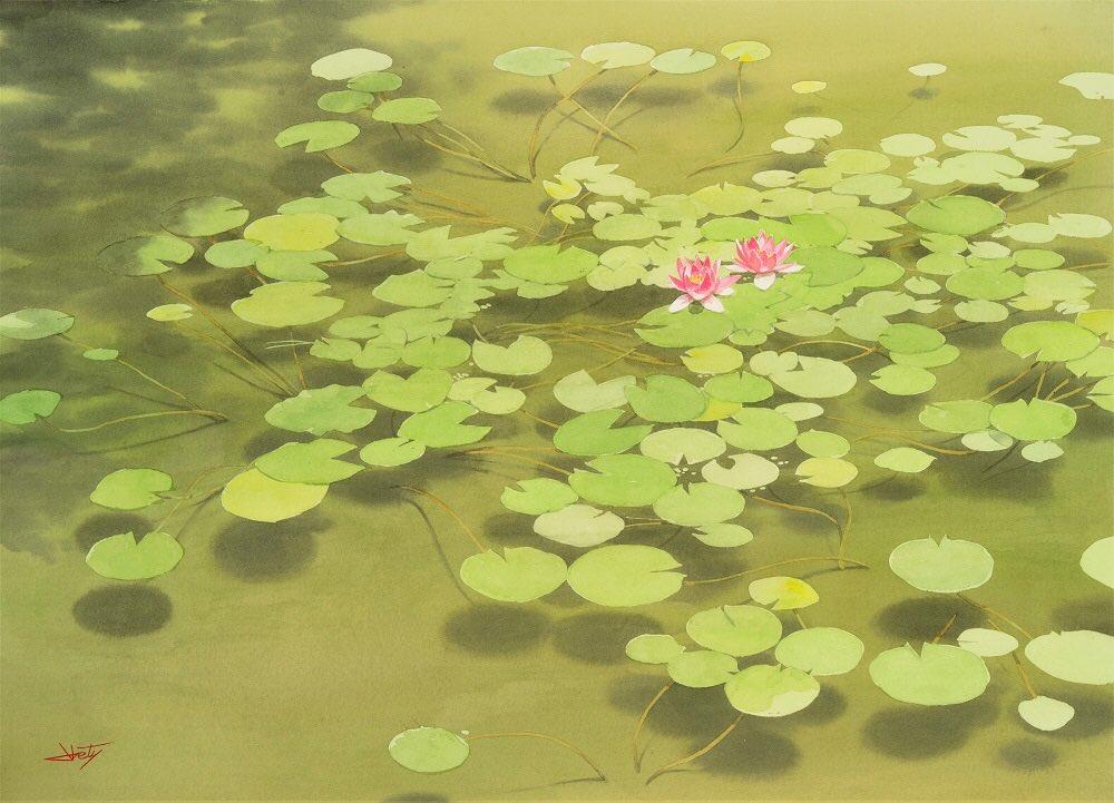 秋の個展に出品した水彩画です。#透明水彩
