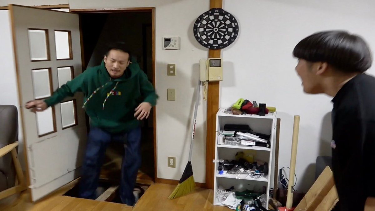 今日の動画は友達の家の中にハンマーで落とし穴作ってみた【ドッキリ】過去最大のドッキリでMYが発情!