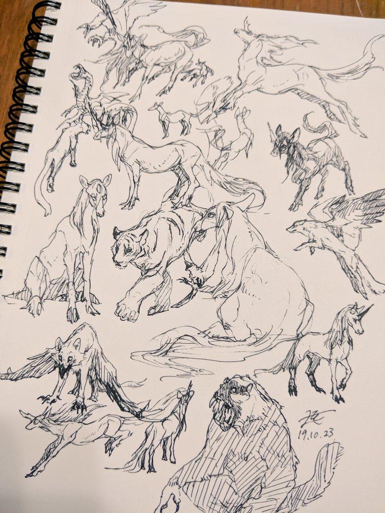 十二国記の獣落描き!