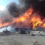 Image for the Tweet beginning: #TermeVigliatore, incendio nell'area industriale: nube