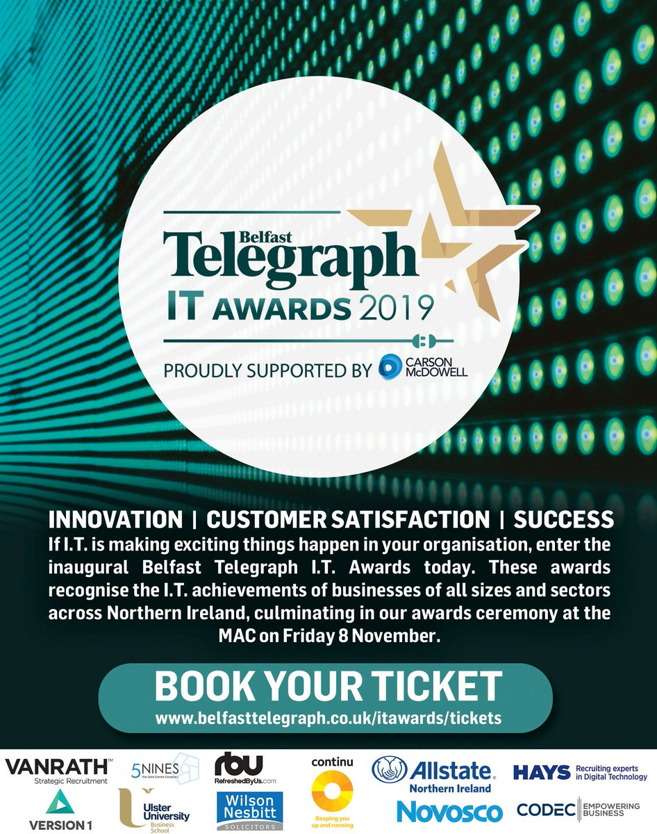 Looking forward to #ITawards tonight! @TheMACBelfast Good Luck all!