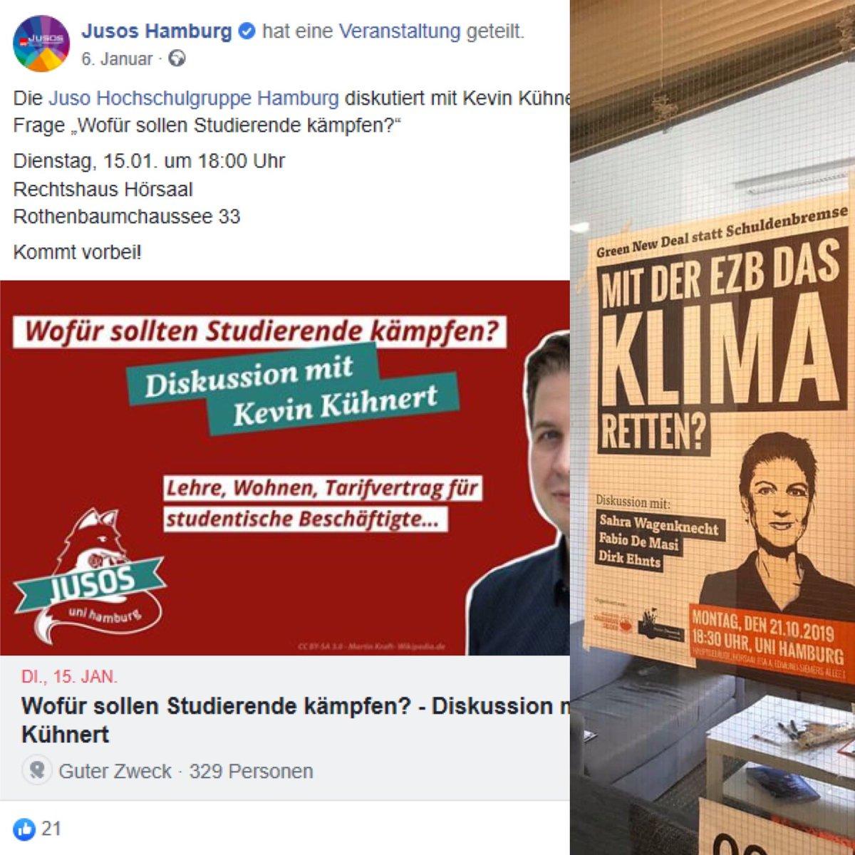 """Sind das hier die """"wissenschaftlichen Vorträge"""", die die Uni #Hamburg im Unterschied zu meiner Diskussion genehmigen kann? Frau Senatorin @fegebanks, Sie sind gefordert! CL #Meinungsfreiheit"""