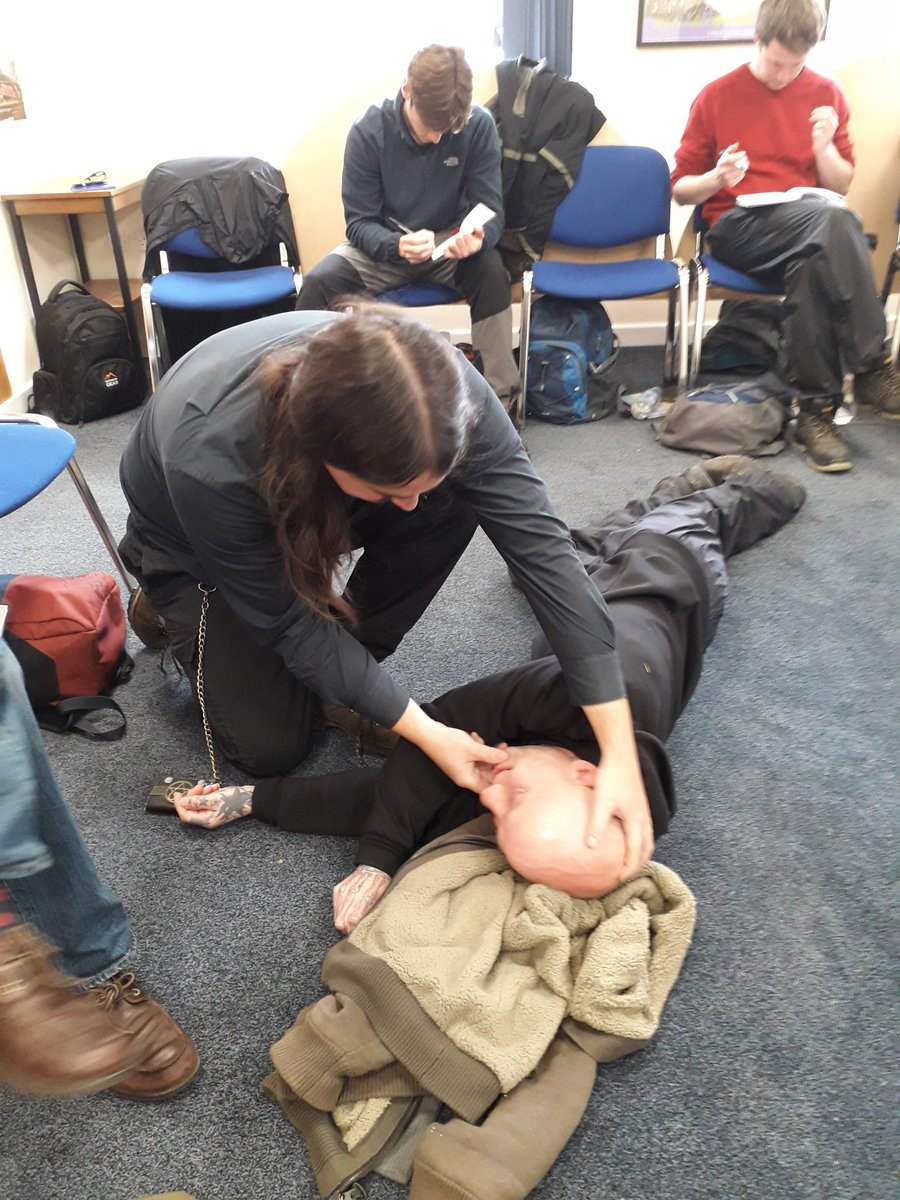 Our @working4nature trainees have been doing a 2-day outdoor first aid course - vital skills for the work they do!