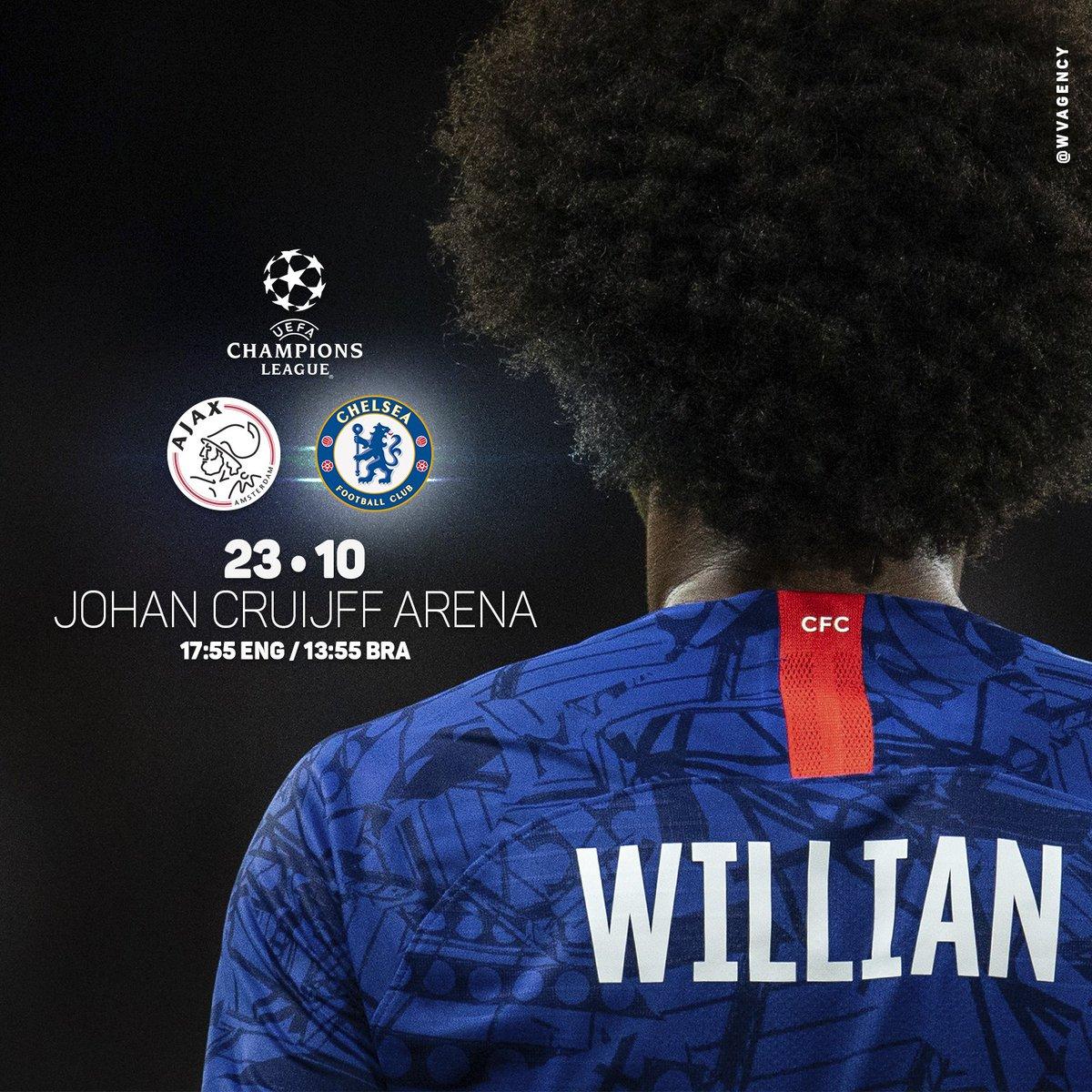 Matchday!!! 💪🏿⚽️💙#uefachampionsleague #CFC #W10 #amsterda #comeonchelsea