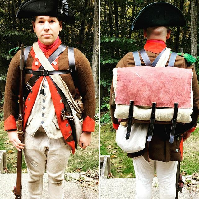 Members of the 2nd Mass will be going to Monmouth New Jersey next week to conduct a immersion of the Forage wars of 1778. Here a member of the regiment is wearing the typical kit of a 9th Pennsylvania soldier in the year 1778. Note: everything was made b… https://t.co/8Tyni0LRlk