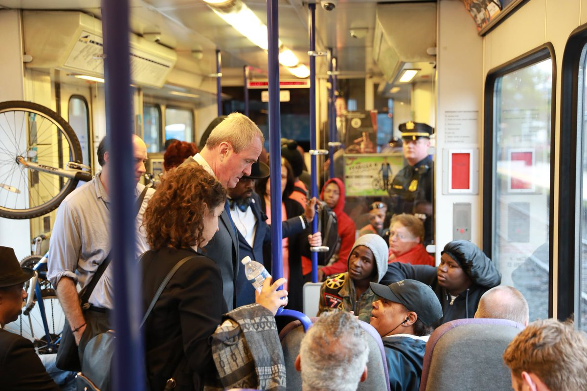 Nj Transit On Twitter Governor Phil Murphy Spent The Day Riding The Nj Transit River Line From Trenton To Camden Meeting With Residents And Small Business Owners Govmurphy Touts The River Line