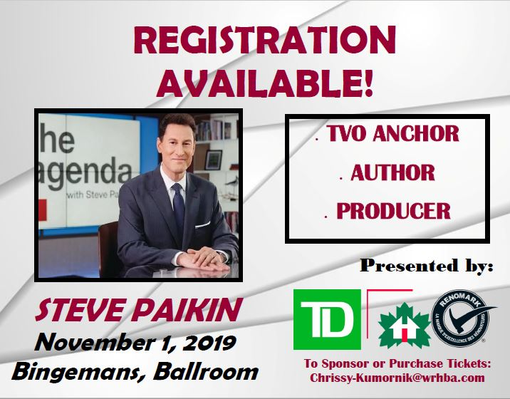 LAST CHANCE FOR INDUSTRY LUNCHEON TICKETS! Don't miss out on the Region's LARGEST Industry Luncheon!  Contact Chrissy at Chrissy-Kumornik@wrhba.com to purchase tickets  #waterloo #ontario #industryluncheon #stevepaikin #tvo #kwlocal #kwawesome #homebuilders #wrhba #waterlooregionpic.twitter.com/jZV4ghEiwq