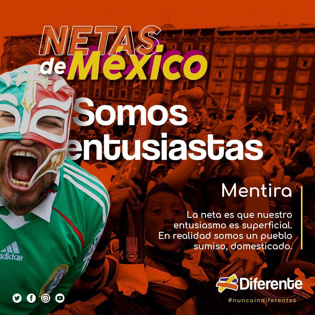 Perfecto sabemos que lxs mexicanxs somos bien dejados. Mejor no te hagas pato y ponte trucha, que el entusiasmo sea algo que te diferencie del resto. #NuncaIndiferentes #Diferente #SinCensura https://t.co/fTwwU9Jdee