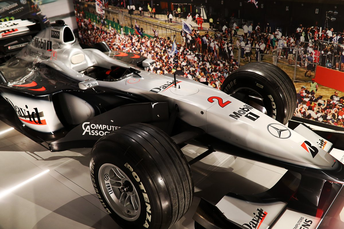 David Coulthard's 2000 #BritishGP winning MP4/15.   The iconic car features as part of the new @SilverstoneExp,  which opens its doors this Friday. Book your tickets here   http:// mclrn.co/SilverstoneExp erience  … <br>http://pic.twitter.com/d3JiTyxKIt