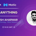 Image for the Tweet beginning: Chandresh @MaticNetwork will be joining
