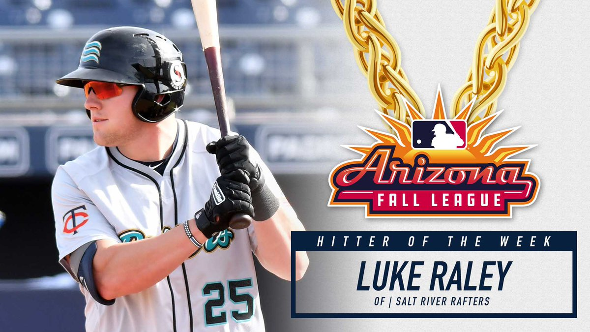 The @Twins Luke Raley is your @ProAmBelts Championship Chains Hitter of the Week! Congrats @lraley20!