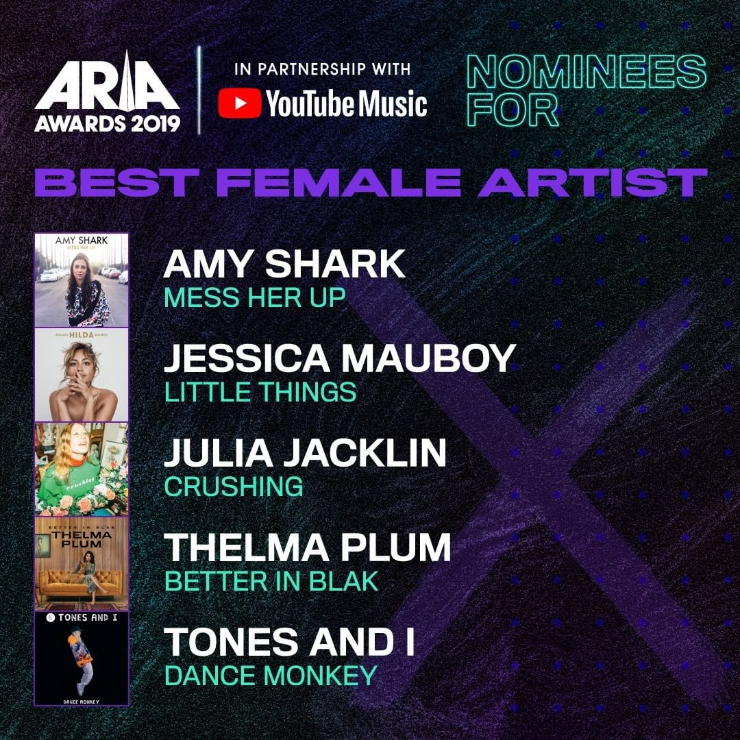 I'm so excited that I have been nominated for #BestFemale at this years #ARIAs. It's such an honour have been nominated alongside so many incredible women in the industry. #YASWOMEN #LittleThings 💕 https://t.co/f9EVPfN6eW