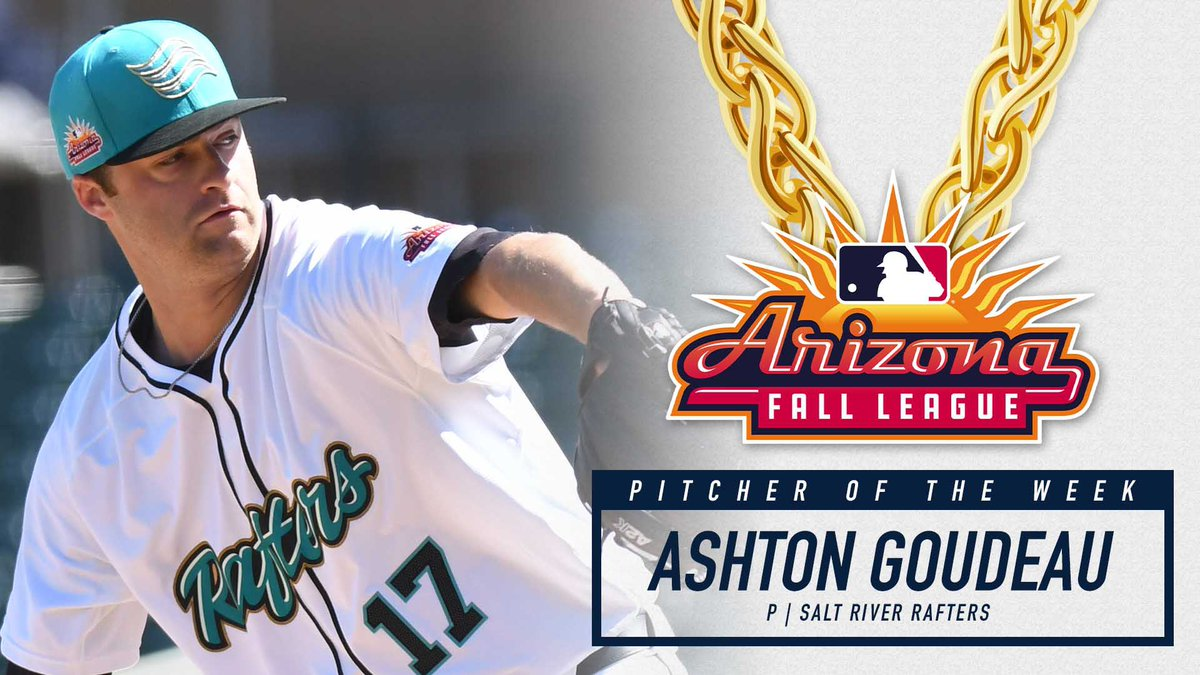 Congrats to the @Rockies Ashton Goudeau on winning the @ProAmBelts Championship Chains Pitcher of the Week!