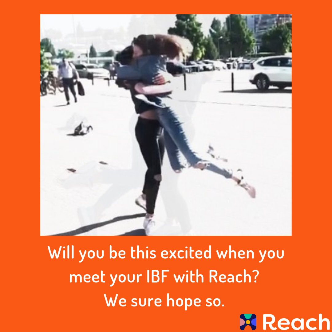 #IBFhugs just goes to show how awesome IBFs are!  Find them on Reach, and we guarantee you'll be at least this excited!  Tell us about when you met your IBF in the comments! #Reach #IBF #ReachYourIBFs #IBFgoals #InternetBestFriendspic.twitter.com/4oieZBjmB9