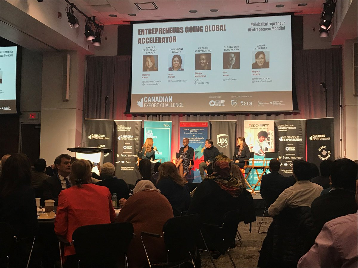 Winner announced shortly! More pics from today's #CanadianExportChallenge. Going global can be scary, but there's so much opportunity for growth, new partners and learning #GlobalEntrepreneur #ad @StartUp_Canada @UPS_Canada https://t.co/5sxYVw0xF5