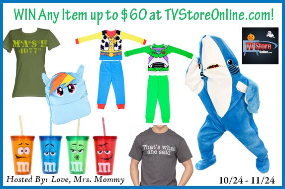 #GIVEAWAY! Enter to #WIN any item up to $60 from @TvStoreOnline! #Costumes, #Movies, #Music, #TV Shows, #Games and more! #GiftCard Great for #Adults and #Kids! #Dressup  @Love_MrsMommy #Halloween #Cosplay #Contest #Free #Prize https://bit.ly/32AQXuE