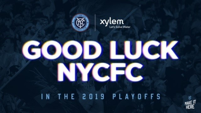 Go team! Cheers to our partners in raising water awareness #letssolvewater @NYCFC #PLAYOFFS https://t.co/fx6L8bfj15