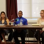 Image for the Tweet beginning: Youth leaders speak on the