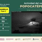 Image for the Tweet beginning: Así el volcán #Popocatépetl las