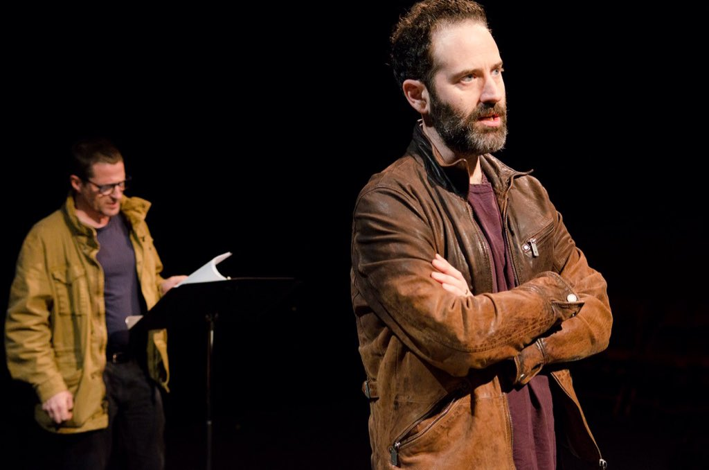 """""""#PlayLabs is helping me fine-tune the script so it's ready for the revisions of production, while teaching me from 'inside' the play as I'm performing it here too."""" -@danobrienwriter on his play #NewLife, with actor @TimGuinee #theaterbeginshere 📷Paula Keller"""