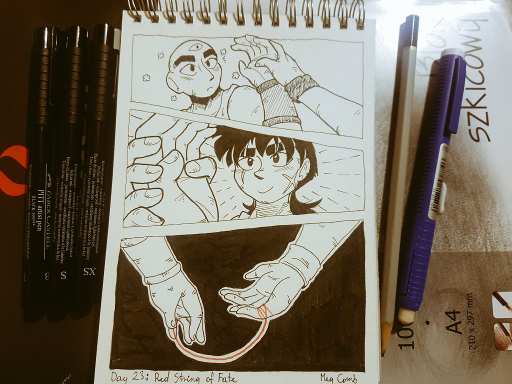 Meg Comb On Twitter Day 23 Red String Of Fate I Ve