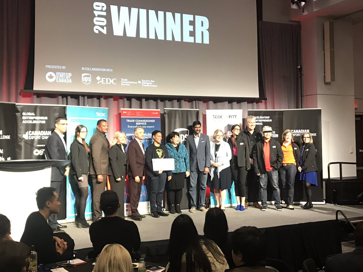 The #CanadianExportChallenge pitch finalists were great, but what makes this @Startup_Canada event awesome is that our winner was our last minute Wildcard entry... @Toni_Marlow_Co! #LGBTQ #Entrepreneurship @ExportDevCanada @TCS_SDC @UPS_Canada @MastercardCA #GlobalEntrepreneur https://t.co/4RYJSvd3jZ