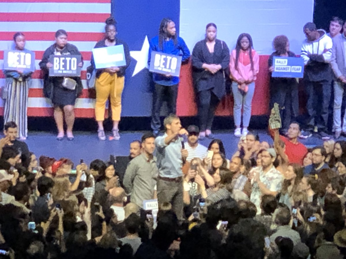 Just reliving the FANTASTIC #rallyagainstfear from last Thursday in Dallas! @BetoORourke lit that thing up! It was such a wonderful gathering of folks too! #Beto2020