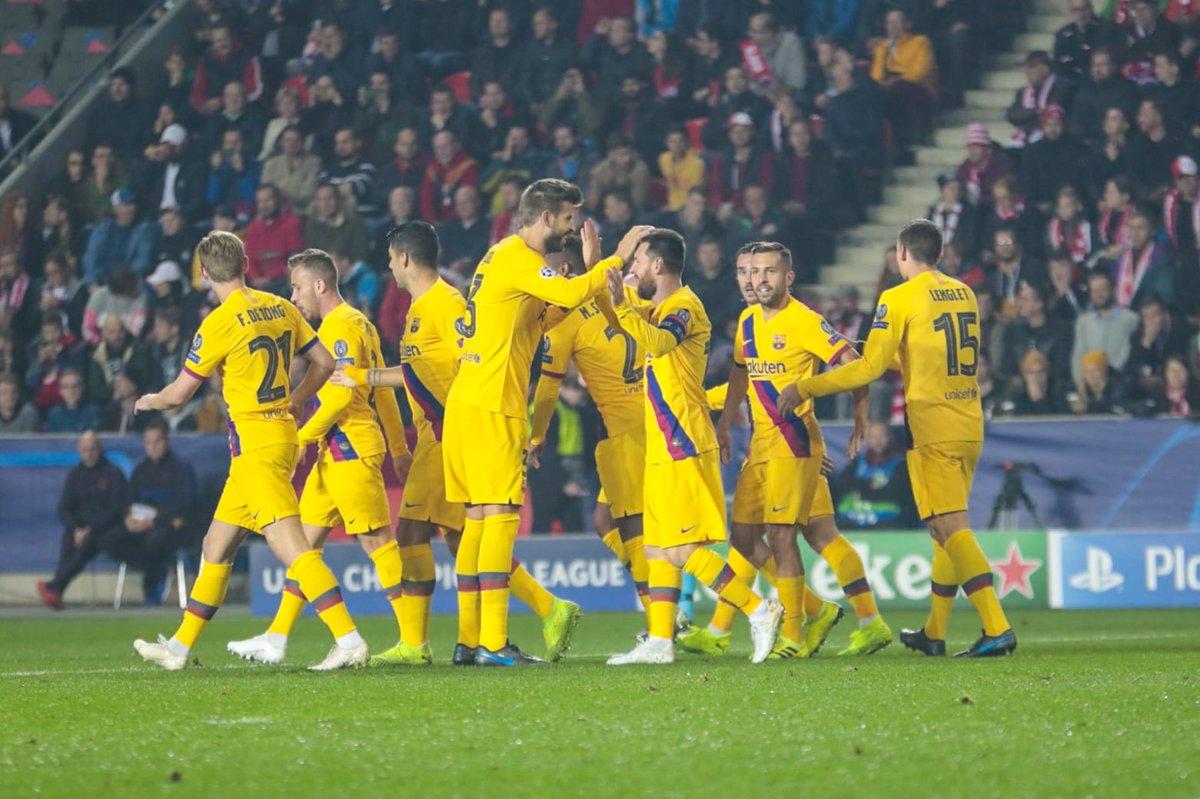 Barcelona derrota al Slavia con el primer gol de Messi