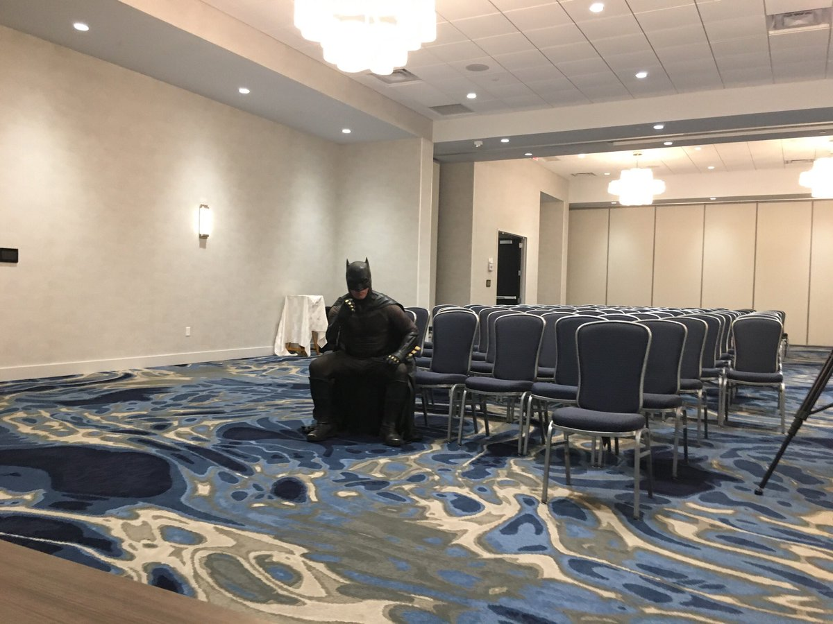 Shout out to that one time I hosted a panel and the only person who showed up was Batman