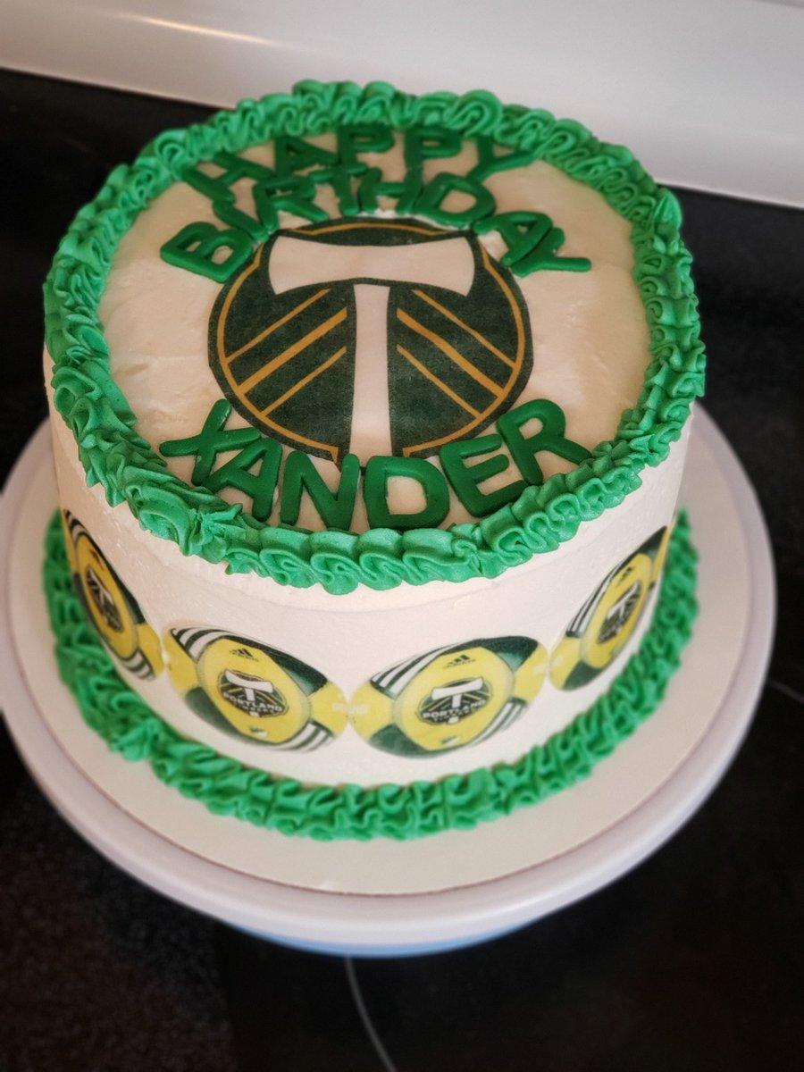 Pleasant Bottom Of The Bowl Bakery On Twitter Portland Timbers Cake Birthday Cards Printable Giouspongecafe Filternl